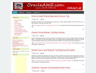 oracleatoz.com screenshot