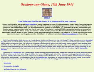 oradour.info screenshot