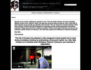 oramsecurity.com screenshot