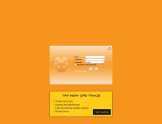 orange.gps-trace.com screenshot