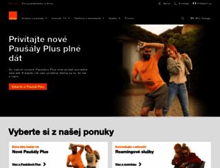 orange.sk screenshot