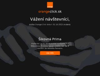 orangeclick.sk screenshot