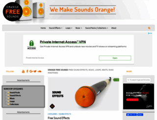 orangefreesounds.com screenshot