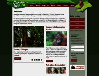 orangutan-appeal.org.uk screenshot