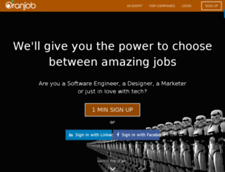 oranjob.com screenshot