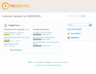 orbirental.uservoice.com screenshot