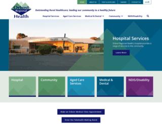 orbostregionalhealth.com.au screenshot