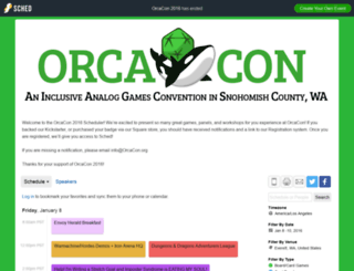 orcacon2016.sched.org screenshot