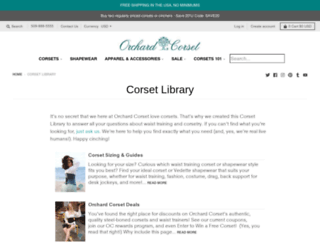 orchardcorsetblog.com screenshot