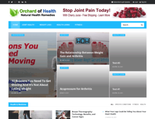orchardofhealth.com screenshot