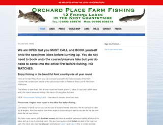 orchardplacefarmfishing.co.uk screenshot