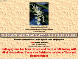 orchidspecies.com screenshot