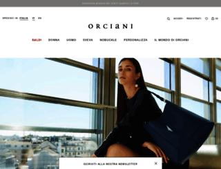 orciani.it screenshot