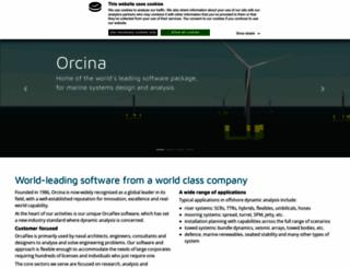 orcina.com screenshot