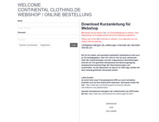 order.continentalclothing.de screenshot