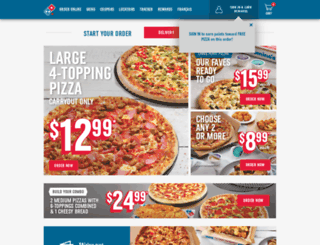 order.dominos.ca screenshot