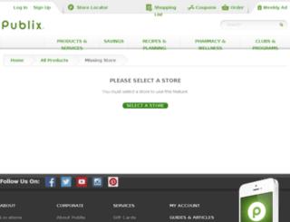 order.publix.com screenshot