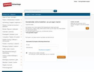 order.staplesadvantage.nl screenshot