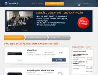 order.viasat.se screenshot