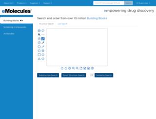 orderbb.emolecules.com screenshot