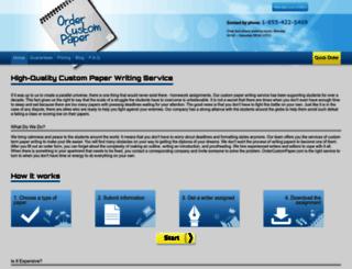 ordercustompaper.com screenshot