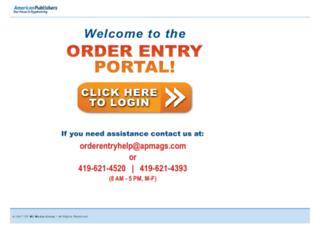 orderentry.apmags.com screenshot
