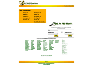 ordering.ftdfloristsonline.com screenshot