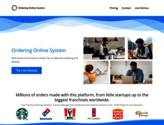 orderingonlinesystem.com screenshot