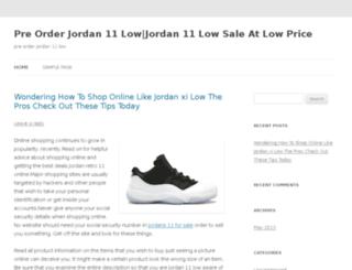 orderjordan11low.com screenshot