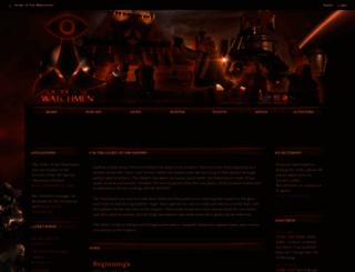 orderofthewatchmen.shivtr.com screenshot