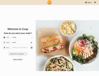 orders.zoup.com screenshot