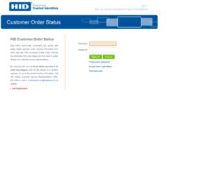 orderstatus.hidglobal.com screenshot