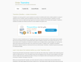 ordertizanidine.org screenshot