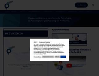 ordinepsicologi.piemonte.it screenshot