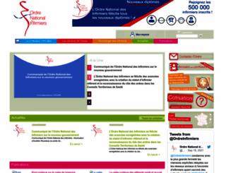 ordre-infirmiers.fr screenshot