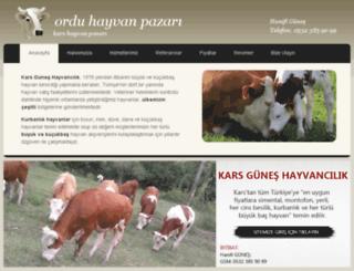 ordu.hayvanpazari.gen.tr screenshot
