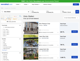 ordu.neredekal.com screenshot