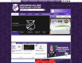 orduspor.org.tr screenshot