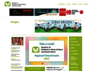 oregon.scbwi.org screenshot