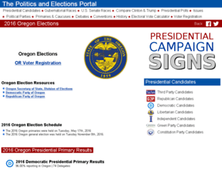 oregon.state-election.info screenshot