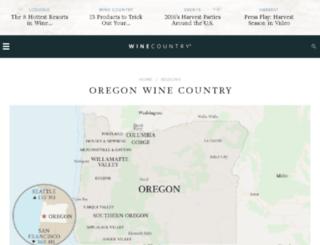 oregon.winecountry.com screenshot