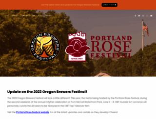 oregonbrewfest.com screenshot