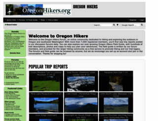 oregonhikers.org screenshot