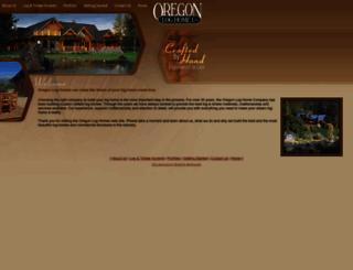 oregonloghomes.com screenshot