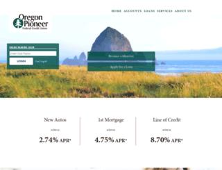 oregonpioneer.org screenshot