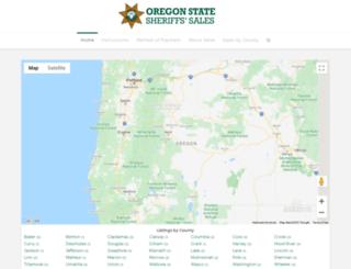 oregonsheriffssales.org screenshot