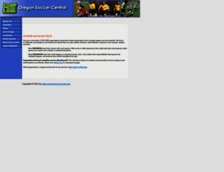 oregonsoccercentral.com screenshot