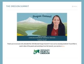 oregonsummit.org screenshot