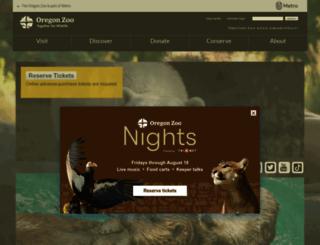 oregonzoo.org screenshot