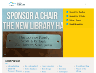 oremlibrary.org screenshot